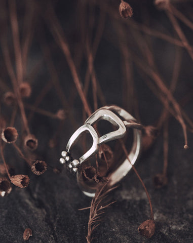 Geometrical Silver Ring