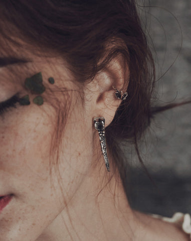 Ear Floral Cuff in Sterling Silver