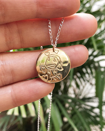 Your Drawing Gold Pendant