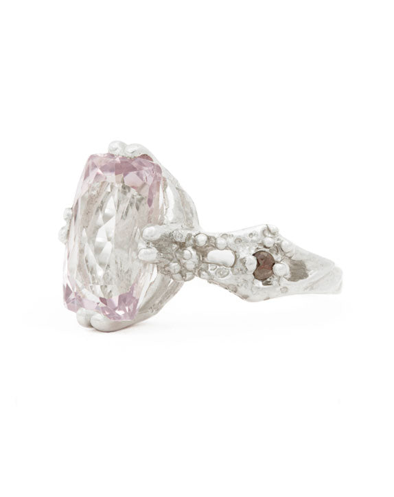 LIGHTHOUSE RING engagement original pink stone diamond