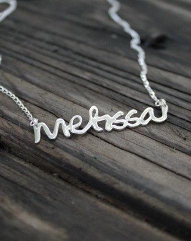My Name Silver Necklace