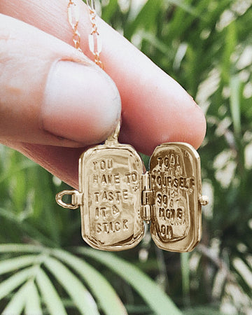 Your Message Gold Pendant