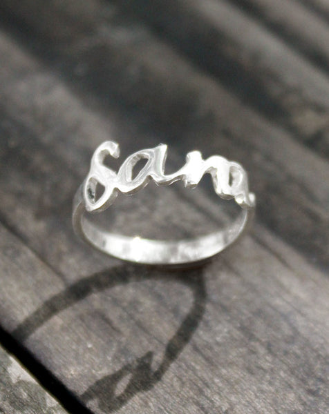 My Name Silver ring