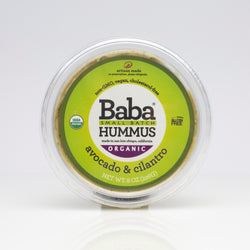 Baba Small Batch Organic Avocado & Cilantro Hummus Top
