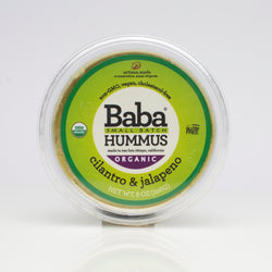 Baba Small Batch Organic Cilantro & Jalapeno Hummus Top