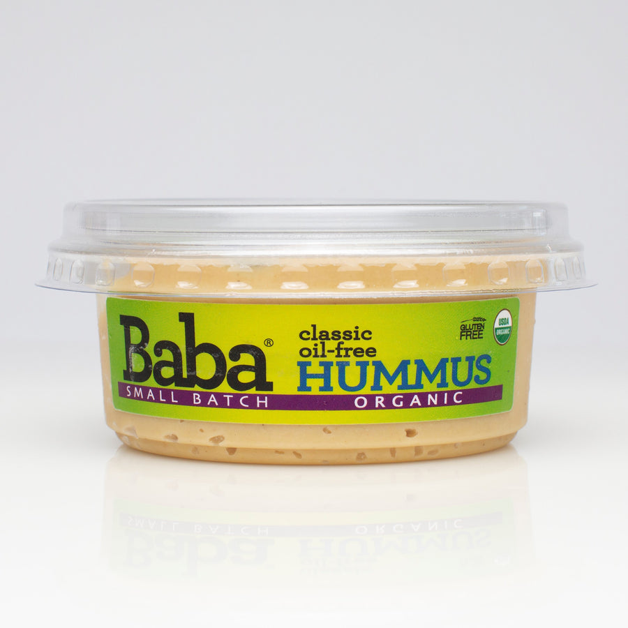 Baba Small Batch Organic Classic Oil-Free Hummus Front