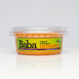 Baba Small Batch Organic Roasted Red Pepper Hummus Front