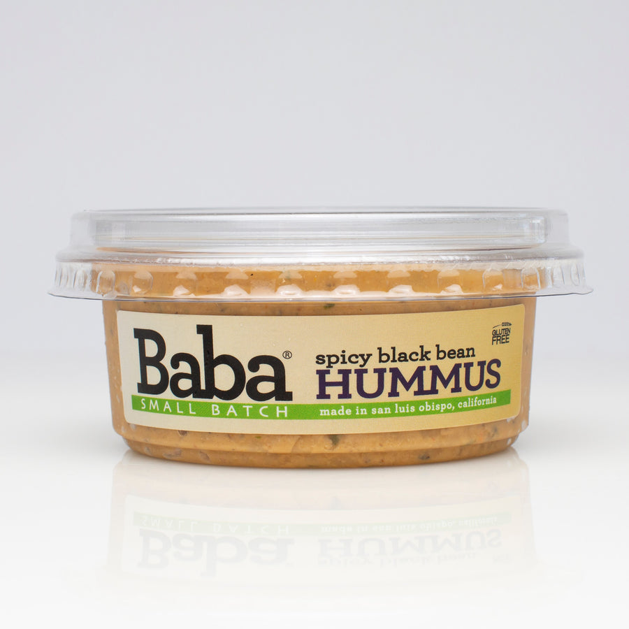 Baba Small Batch Spicy Black Bean Hummus Front