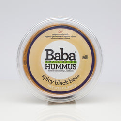 Baba Small Batch Spicy Black Bean Hummus Top