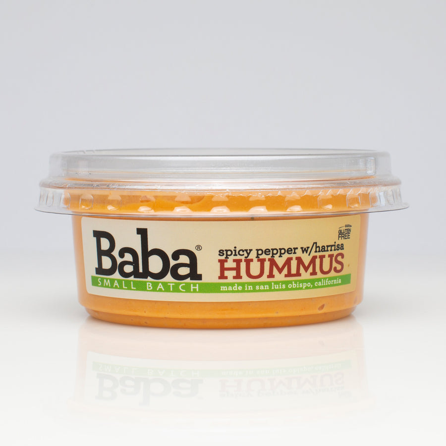 Baba Small Batch Spicy Pepper with Harissa Hummus Front