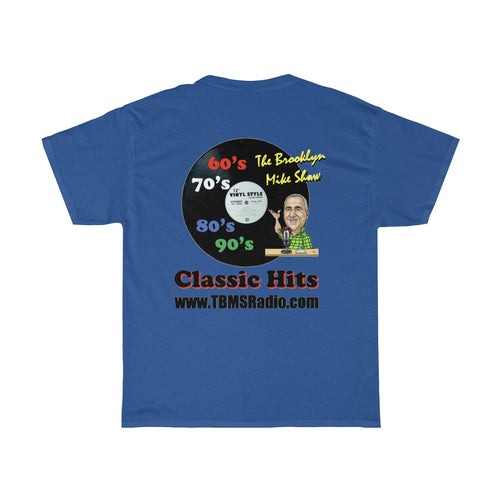 TBMSRadio T-Shirt with Record Logo on Back