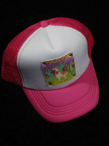 YOUTH/KIDS SIZE TRUCKER STYLE HATS WITH OUT LONE LLAMA LEATHER PATCH