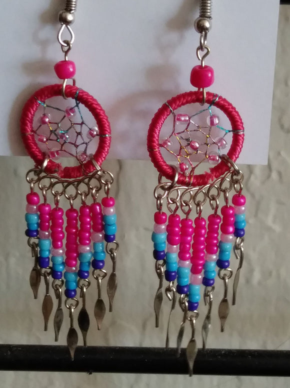 DREAM CATCHERS BEADED HAND MADE EARRINGS