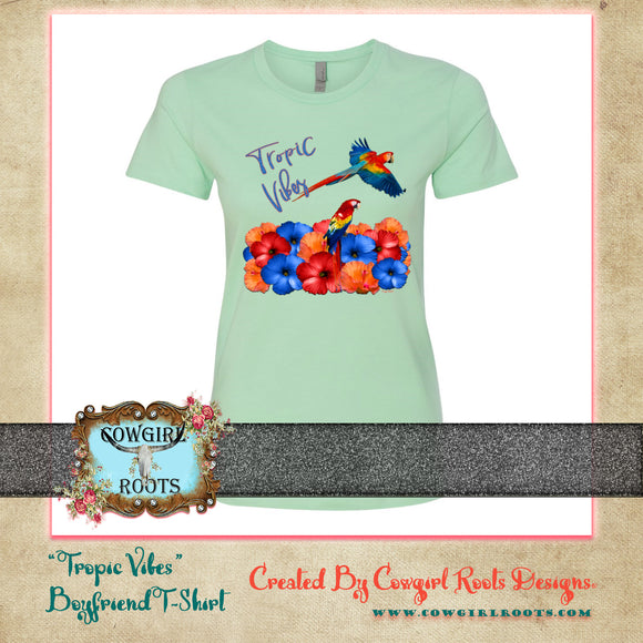 TROPIC VIBES BOYFRIEND COTTON T SHIRTS