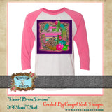 DESERT BRONC DREAMS 3/4 SLEEVE RAGLAN T SHIRT