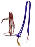 METALLIC TURQUOISE OR PURPLE BOSAL AND MECATE REINS!