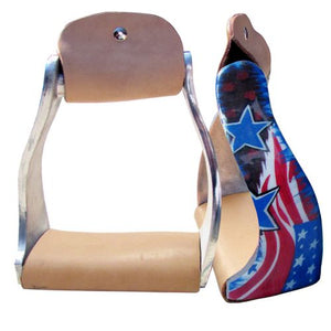 USA AMERICAN FLAG STIRRUPS
