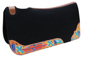 CROSS AND FEATHER SIDE WARES FELT SADDLE PAD