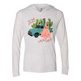 BE THE FLOWER AMONGST PRICK'S HOODED LONG SLEEVE T SHIRTS