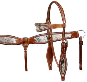 HAIR ON HIDE INLAY BRIDLE SET
