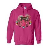 BUCK'N BOHEMIAN HORN'S PULL OVER FRONT POCKET HOODIES