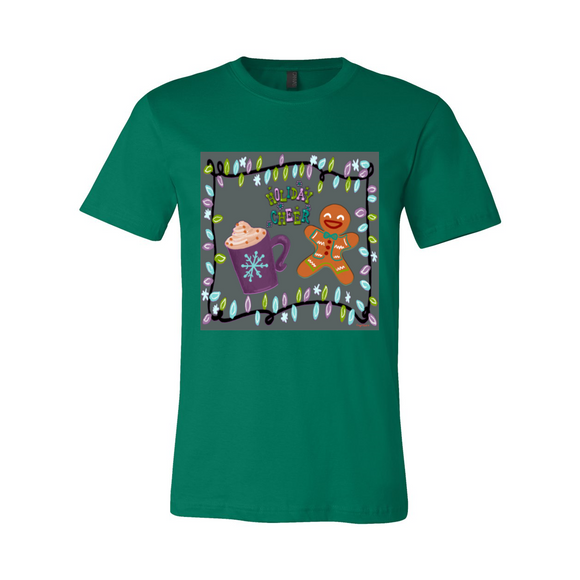 HOLIDAY CHEER UNISEX COTTON T SHIRT
