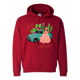 BE THE FLOWER AMONGST PRICK'S PULL OVER UNI SEX FRONT POCKET HOODIES