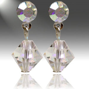 SWAROVSKI AB CRYSTAL POST EARRINGS