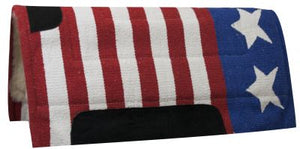 AMERICAN FLAG FLEECE BOTTOM SADDLE PAD