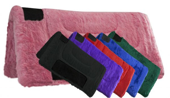 FUZZY PONY SADDLE PAD MANY COLORS TO CHOOSE FROM