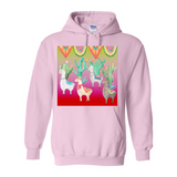 LLAMA DESERT PULL OVER FRONT POCKET HOODIES