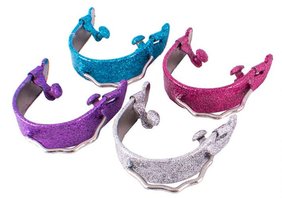 GLITTER EPOXY MIX COATED BUMPER SPURS ~ CHOOSE COLOR