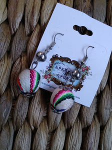HANDMADE SERAPE WOVEN BEAD EARRINGS