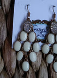 WESTERN BOHEMIAN CRYSTAL CHANDELIER EARRINGS