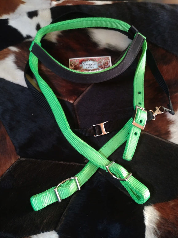 HANDMADE NYLON HEADSTALL WITH NEOPRENE ACCENT