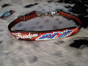 PATRIOTIC FREEDOM FEATHER WITHER STRAP