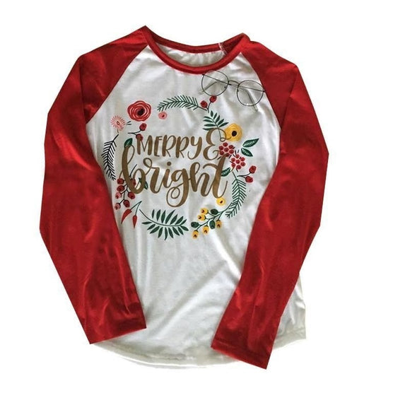 MERRY & BRIGHT HOLIDAY T SHIRT