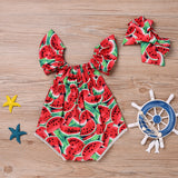 BABY WATERMELON PRINT SUN OUTFIT
