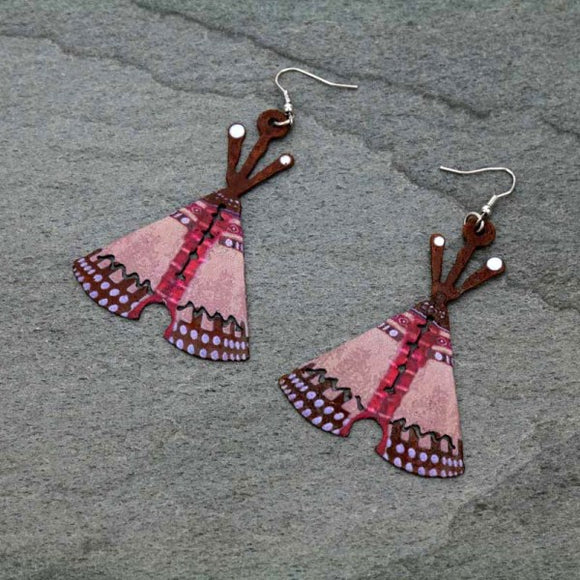 HAND MADE TEE PEE EARRINGS
