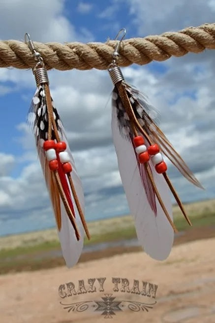 GENUINE FEATHER EARRINGS / CHOOSE COLOR