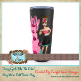 "20 oz ""SASSY GIRL'S TAKE THE CAKE"" HOT OR COLD STAINLESS STEEL TRAVEL TUMBLER"