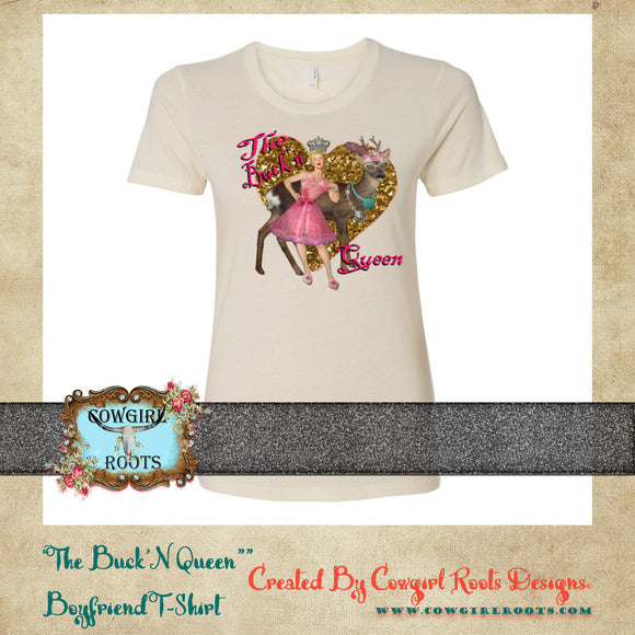 THE BUCK'N QUEEN BOYFRIEND COTTON T SHIRTS (VERBAGE)