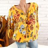 FLORAL SEQUENCE EMBELISHED BLOUSE