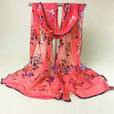 METALLIC FLORAL SPRING SCARVES! CHOOSE YOUR COLOR!