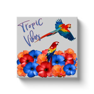 "TROPICAL VIBES 12"" X 12"" CANVAS WALL ART"