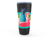 20 oz PINEY AND MR. PINKS SUMMER TIME HOT OR COLD STAINLESS STEEL TRAVEL TUMBLER