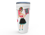 """SASSY GIRL"" 20oz HOT OR COLD STAINLESS STEEL TRAVEL TUMBLER"