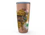 20 oz CLASSY BUCK HOT OR COLD STAINLESS STEEL TRAVEL TUMBLER
