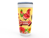 "20 oz ""GOOD CLUCK'N MORNING"" HOT OR COLD STAINLESS STEEL TRAVEL TUMBLER"