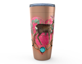 "20oz ""BUCK N' BOHEMIAN HORNS"" HOT OR COLD STAINLESS STEEL TRAVEL TUMBLER"
